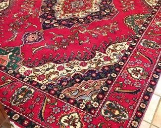 """FRESH BACK FROM BEING PROFESSIONALLY CLEANED, this rug measures 9'6""""X12'9"""", smoke free, brand new rug pad, have current appraisal from Hagihi of $8600!!! Our price is $4200!!! Appraisal reads:ONE FINE KASHAM RUG 100%wool hand woven in Iran pre-imbargo!"""