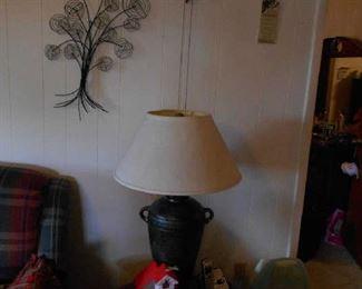 wall deco, Cuckoo clock, lamp, side table