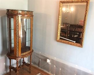 Glass cabinet and mirror