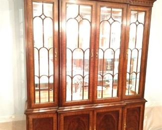 Drexel heritage lighted China cabinet