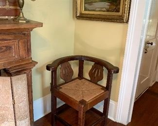 Pretty English corner chair