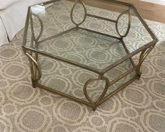 Neat hexagon coffee table