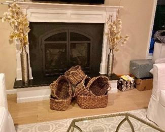 Love these baskets - don't start up the fireplace until they are sold!