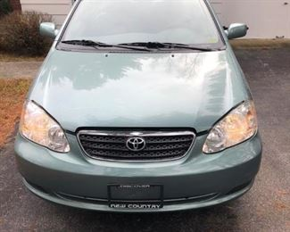 2006 Toyota Corolla BID item Minimum $1,500 $100 increments---owner reserve must be met -- auction ends Sunday noon