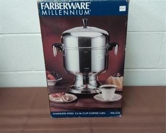 Farberware Stainlees Steel Coffee Urn Lot #: 12