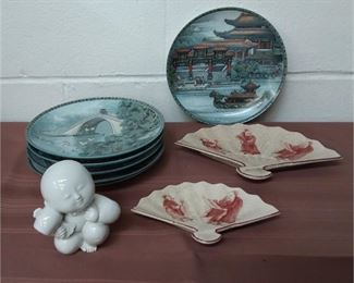 Asian Collectors Plate ,etc Lot #: 25