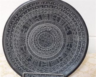 Souvenir Incised Blackware Plate Lot #: 34