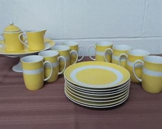 8 Piece Dessert Set Marked FF Lot #: 35