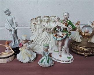 Group Of Angels And Ballerina Figurines Lot #: 39