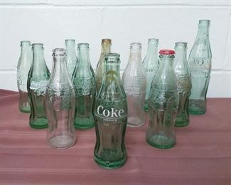 Group Of Coca-Cola Glass Bottle Lot #: 55