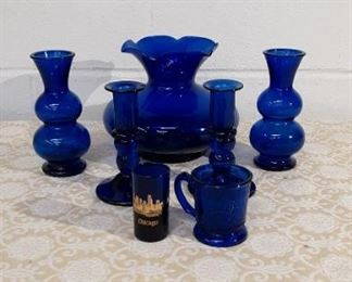 Cobalt Glass Ware Lot #: 59