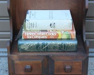 Cook Books And Stand Lot #: 60