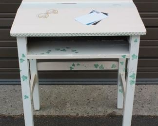 Painted School Desk Lot #: 68