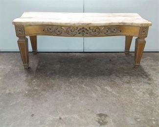 Mini Marble Top Console Lot #: 73