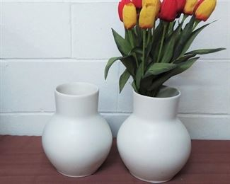 Pair Of Pottery Barn Vases Lot #: 96