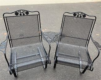 Set Of Two Iron Chairs Lot #: 104