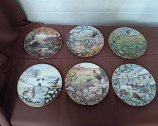 Six Collector Plates Lot #: 111
