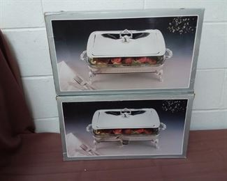 Two Silver Plated Serving Dishes With Boxes Lot #: 115
