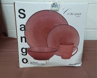New In Box Sango Dinnerware Set Lot #: 122
