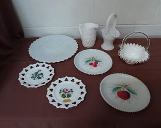 Group Of Milk Glass Lot #: 127