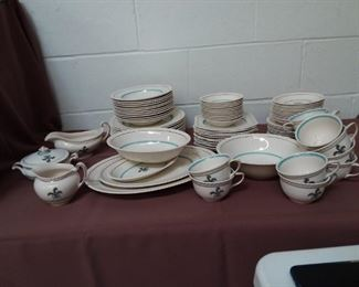 92 Piece Set Of Old English Johnson Bros England Lot #: 128