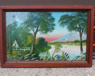 Painted Tray Signed B. Hart Lot #: 133