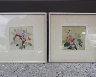 Pair Of Framed And Signed Artwork Lot #: 139