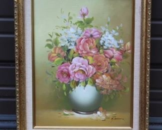 Artwork Of Flowers Lot #: 140