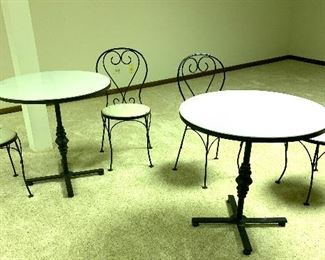 2 (3pc) ice cream parlor table sets
