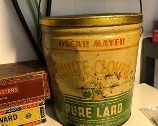 Vintage Oscar Mayer lard tin.