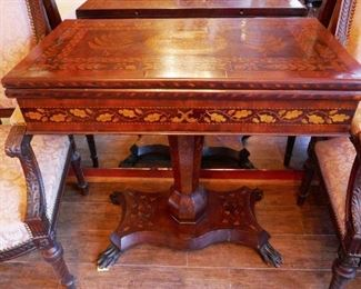 Finely Inlaid Game Table