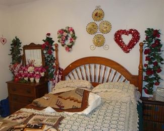 Bedroom set and Valentine's decorations