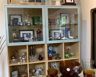 2 DISPLAY CABINETS