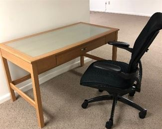 Small contemporary desk and chair