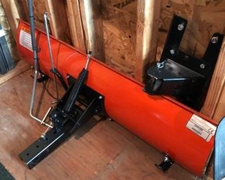 """48"""" Snow Blade with wheel weights. Plus Huskey mulch kit"""