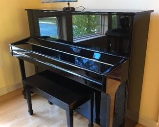 Beautiful J. Strauss & Son lacquered piano