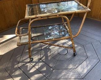 Bamboo beverage cart