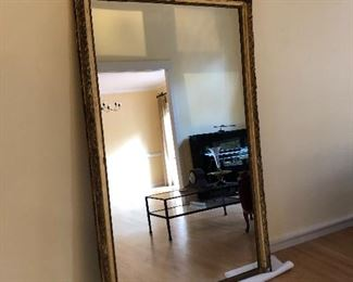 Large antique French Pier Mirror. A must see!