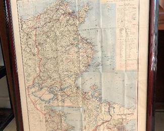 Old map of Tunisia printed in Paris