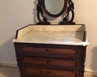 Excellent bachelors dressing chest or wash stand. Most probobly French