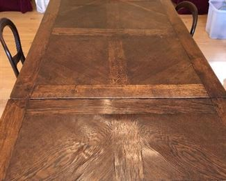 Beautifully aged French veneered and carved dining table