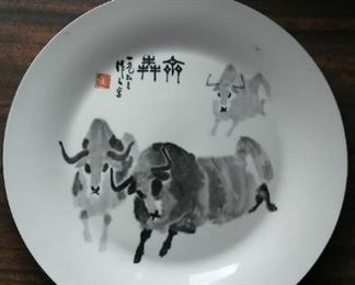 Yaks on Plate, contemporary.