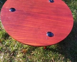MCM Mahogany Low to Mid-Rise Occasional Table.