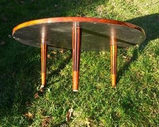 MCM Occasional Table in Glossy Mahogany!