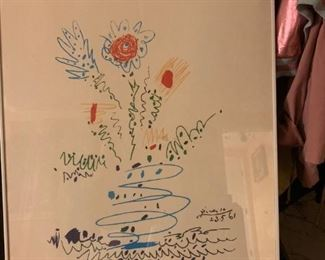 """Plablo Picasso """"Flowers"""" 100 signed and numbered impressions. Image size: 578x452mm; paper size: 648x495mm"""