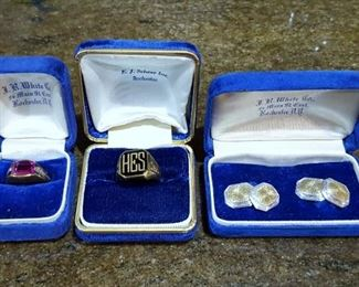 14K rings and cufflinks