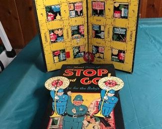 Vintage Stop and Go board game