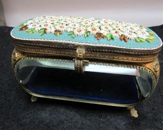 Mosiac Floral Top Jewelry Casket