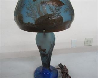 Flore Tropical Fish Cameo Glass Lamp