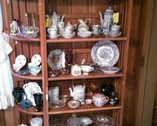 Various china and glass items, Occupied Japan tea set, depression glass
